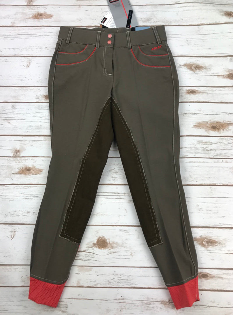 Ariat Olympia Acclaim Regular Rise Full Seat Breeches in Barnwood - Women's 24R