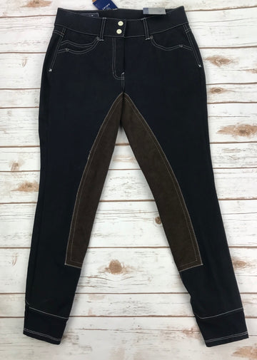 Ariat Heritage Fashion 5 Pocket Full Seat Breeches in Navy- Back View