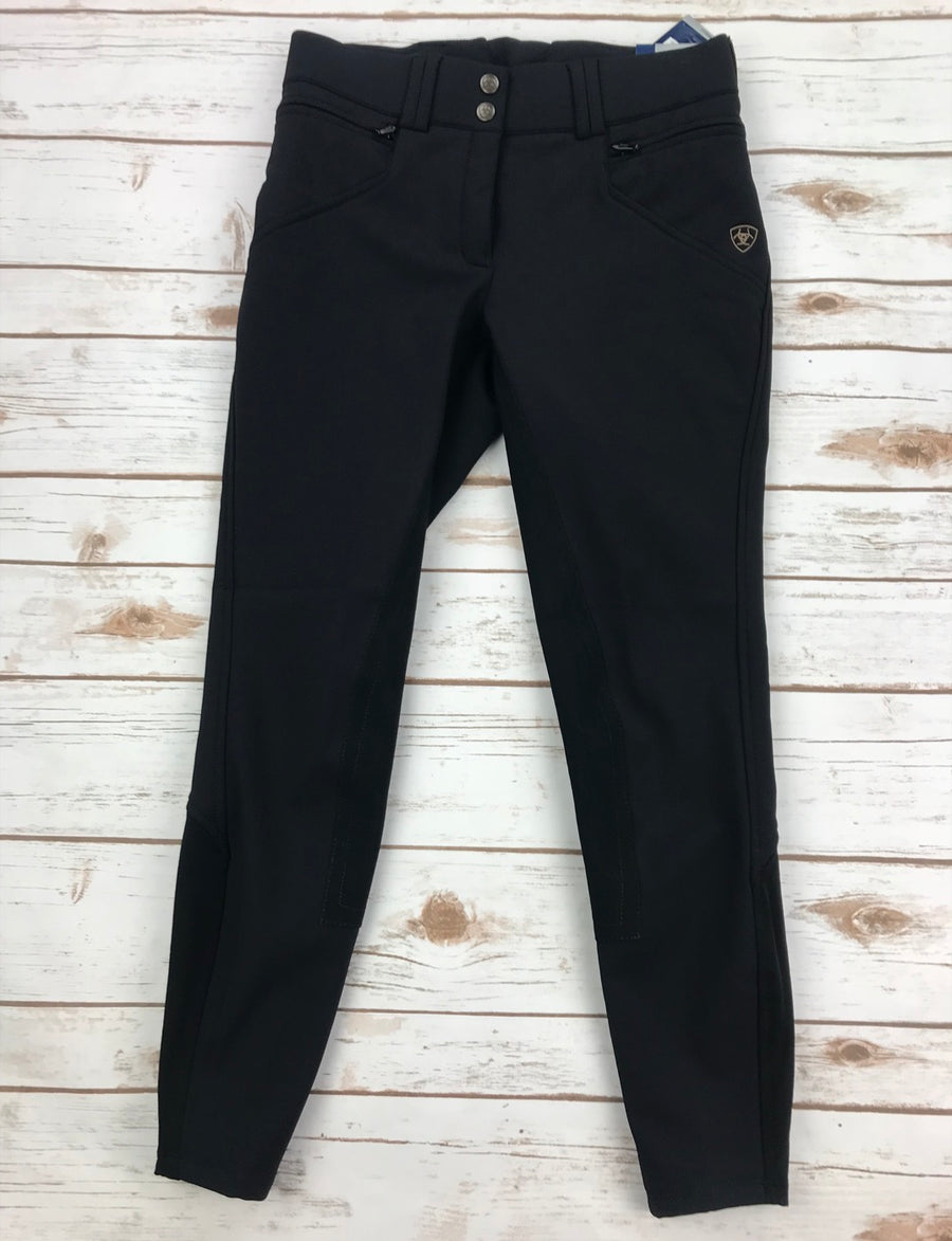 Ariat Mikelli Softshell Full Seat Breeches in Black- Front View