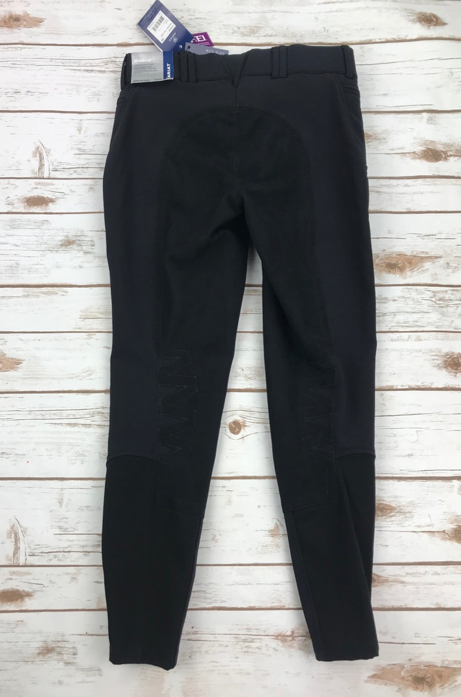 Ariat Mikelli Softshell Full Seat Breeches in Black- Back View