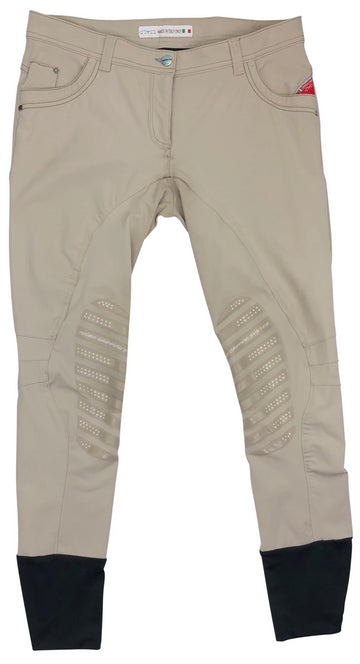 front view of Animo Breeches in Calla Beige