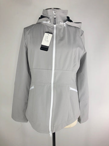 Asmar Equestrian Rider Jacket in Light Grey- Front View