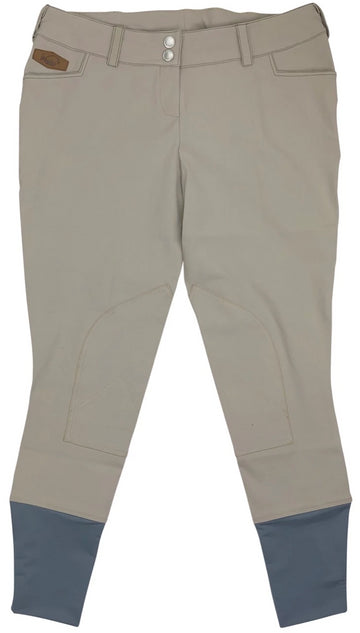 front view of Winston Equestrian Knee Patch Breeches in Ash