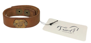Luke& Lyla Vintage Jockey Cuff Bracelet in Oil-Tanned Leather - 3/4