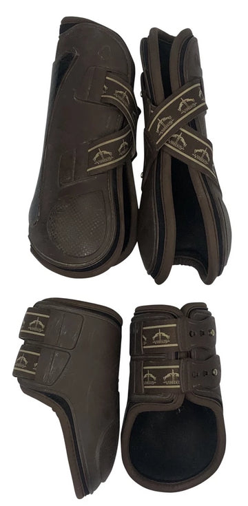 full view of Veredus Carbon Gel Jumping Boots Set in Brown