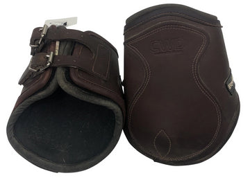 front and back view of EquiFit T-Boot LUXE Hind Ankle Boots in Brown