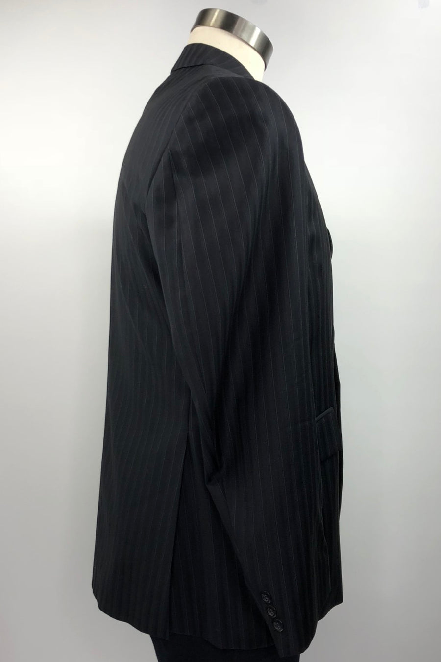 Grand Prix Hunt Coat in Black Pinstripe - Right Side View