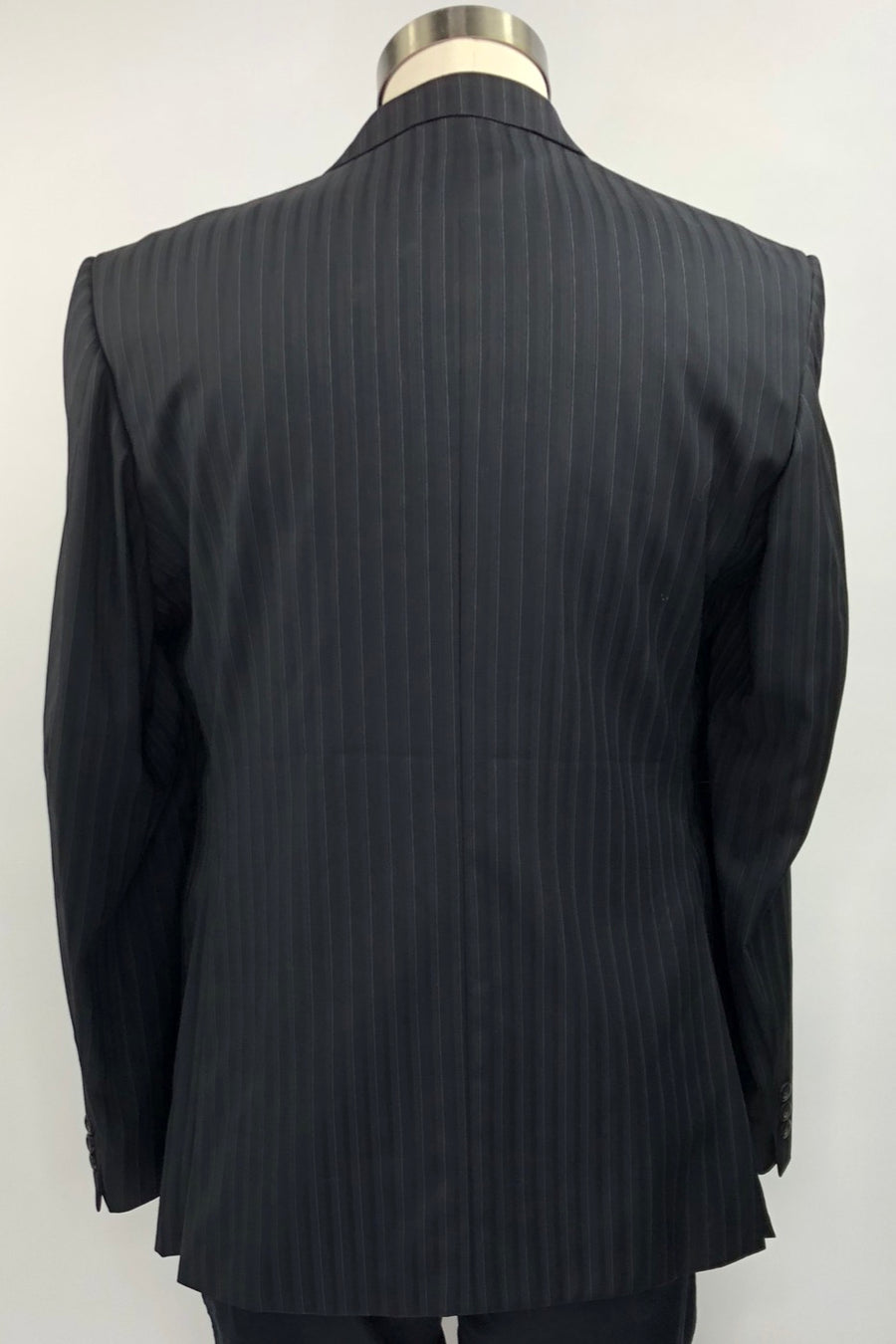 Grand Prix Hunt Coat in Black Pinstripe - Back View