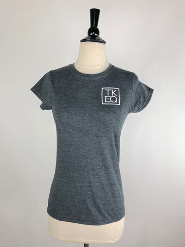 TKEQ Ring Crew Tee in Charcoal Heather - Women's Small