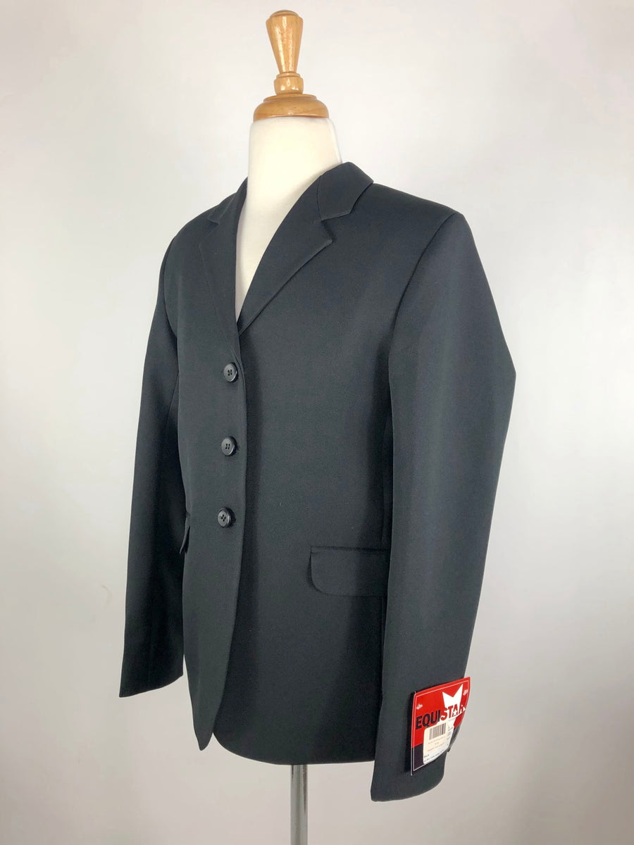 Equistar Children's Riding Jacket in Black -  Left Side View