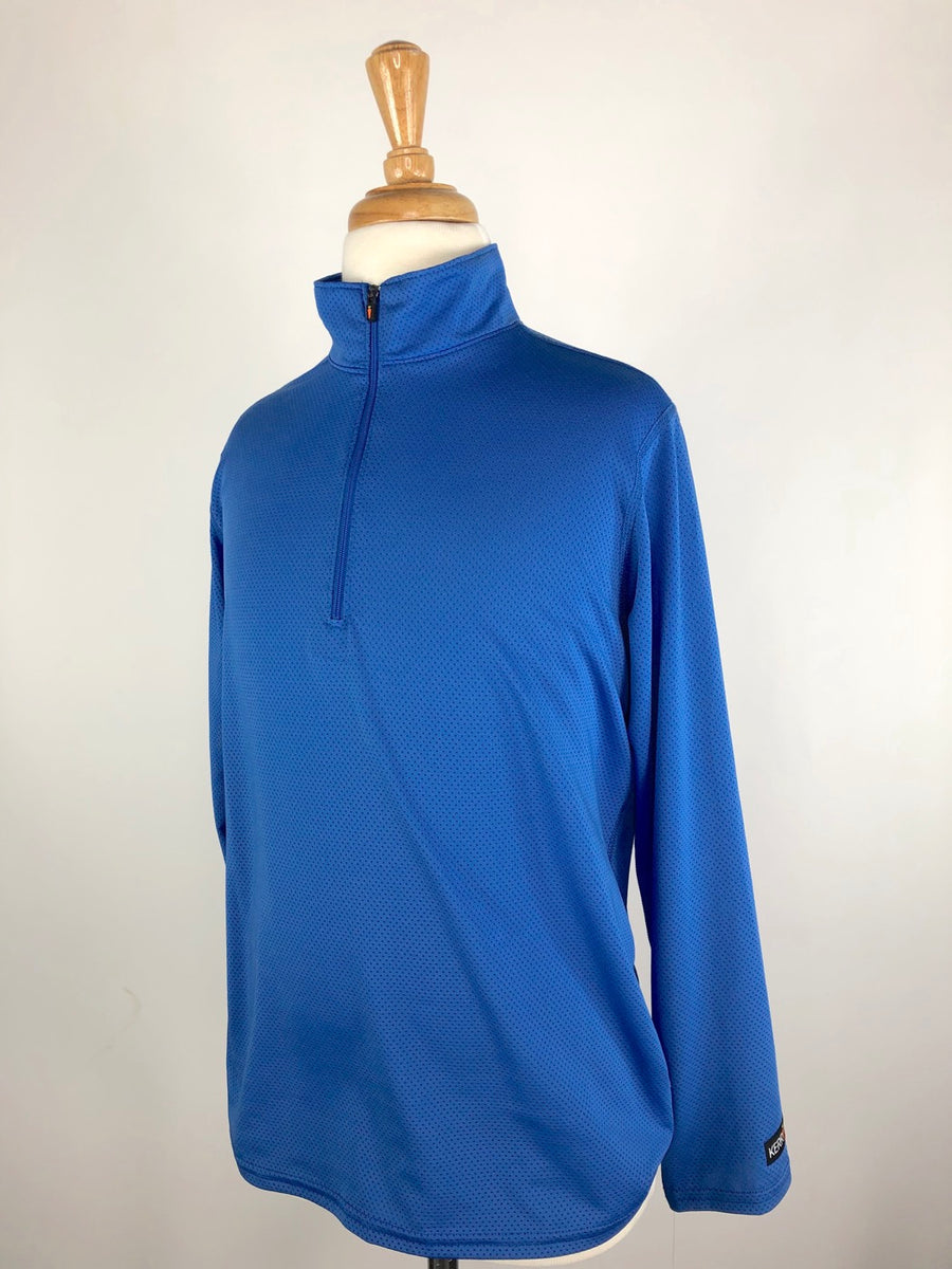 Kerrits Ice Fil Long Sleeve Shirt in Bluestone - Left Side View