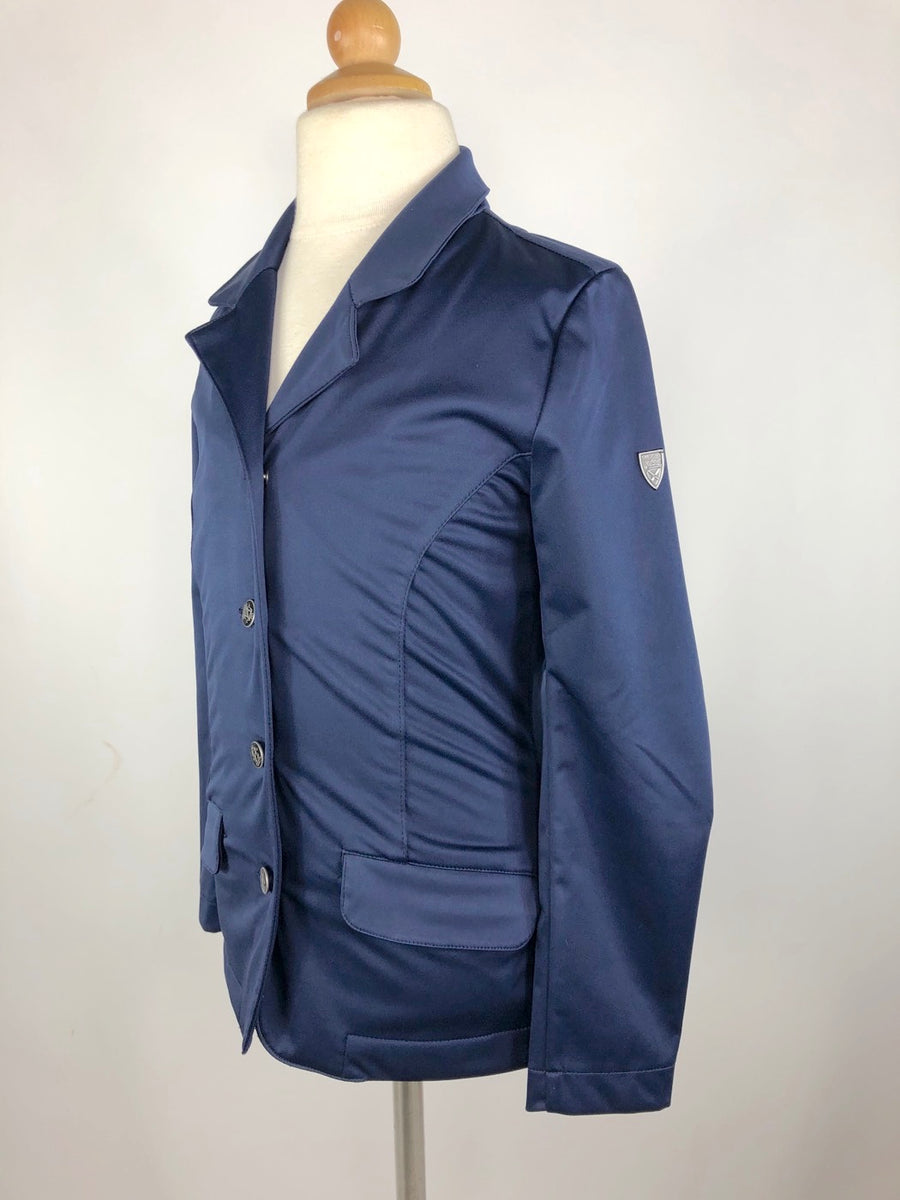 Horze Crescendo Haven Juniors Show Jacket in Navy -Left Side View