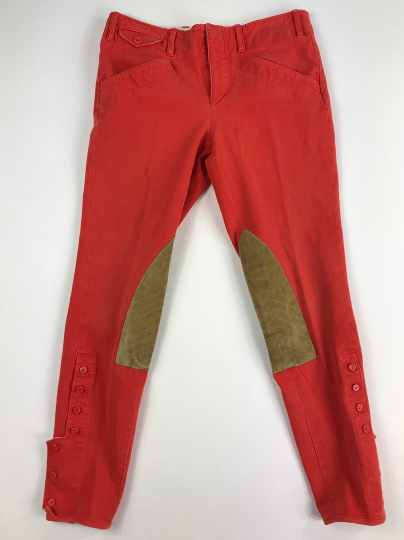 Ralph Lauren Cord Jod Pants in Coral - Women's 4