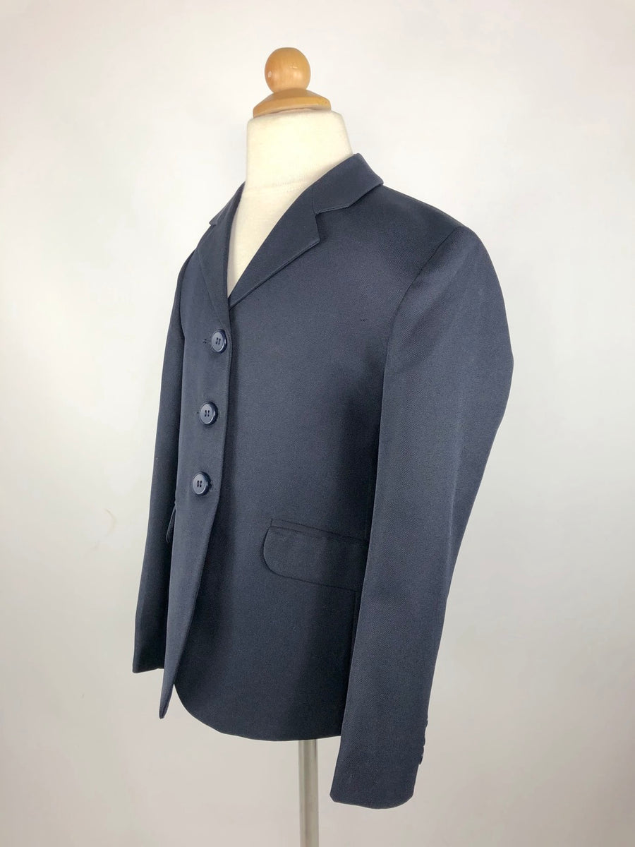 Equistar Children's Riding Jacket in Navy - Left Side View