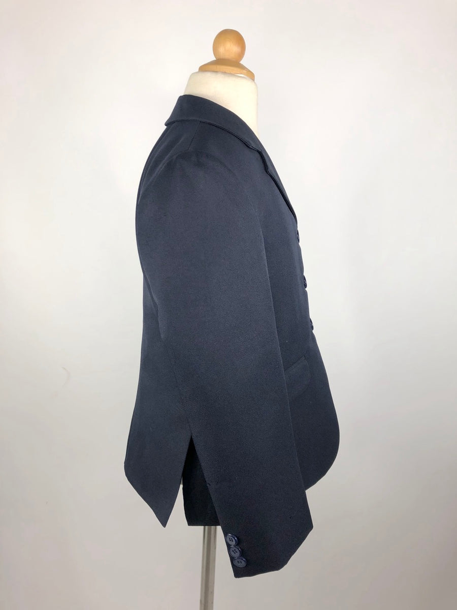 Equistar Children's Riding Jacket in Navy - Right Side View