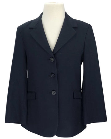 front view of On Course Show Coat in Black