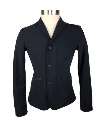 Cavalleria Toscana Competition Jacket in Black - Front View