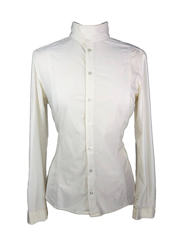 FITS Riding Silk Touch Show Shirt in Ivory -Front View