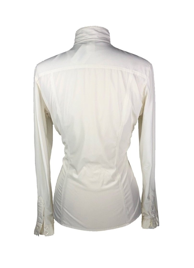 FITS Riding Silk Touch Show Shirt in Ivory -Back View