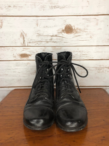 Ariat Youth Performer Paddock Boots in Black- Front View