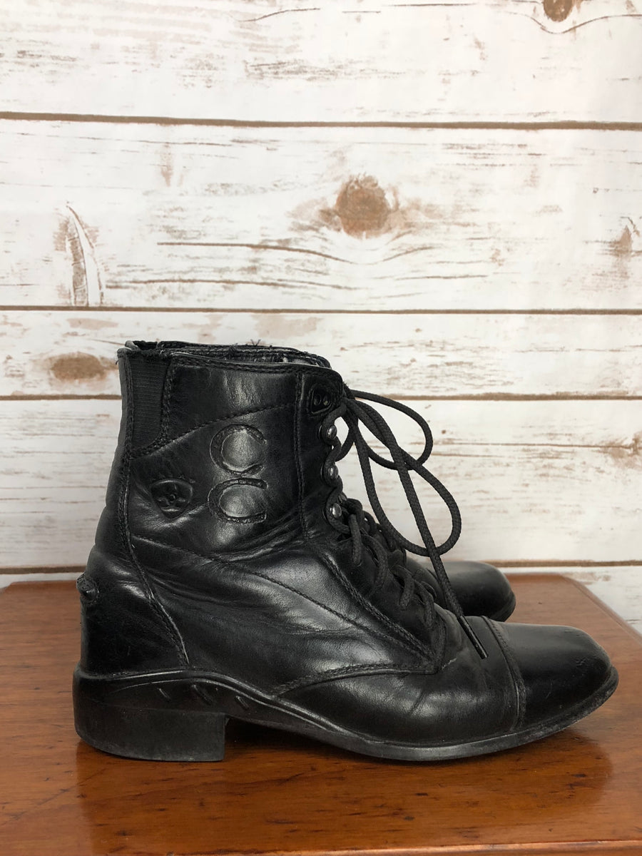 Ariat Youth Performer Paddock Boots in Black- Right Side View