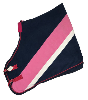 View of Steeds Navy and pink cooler folded in half.
