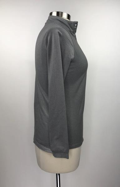 Callidae Long Sleeve Polo in Grey- Right Side View