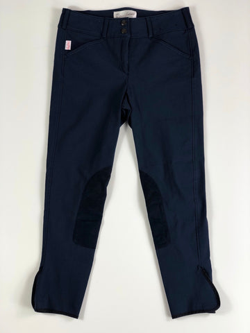 Tailored Sportsman Trophy Hunter Breeches in Blue Velvet - Children's 18L | XL