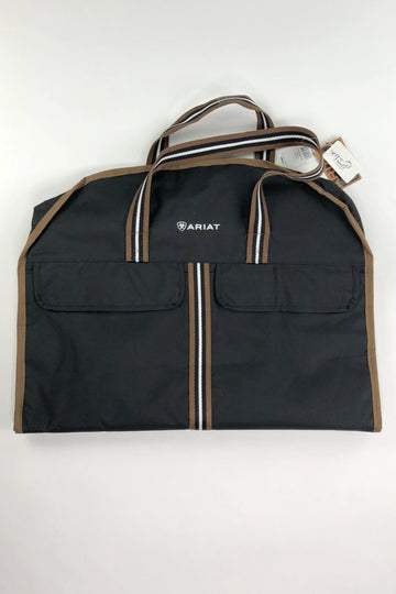 Ariat Show Garment Bag in Black/Tan- Front Fold View