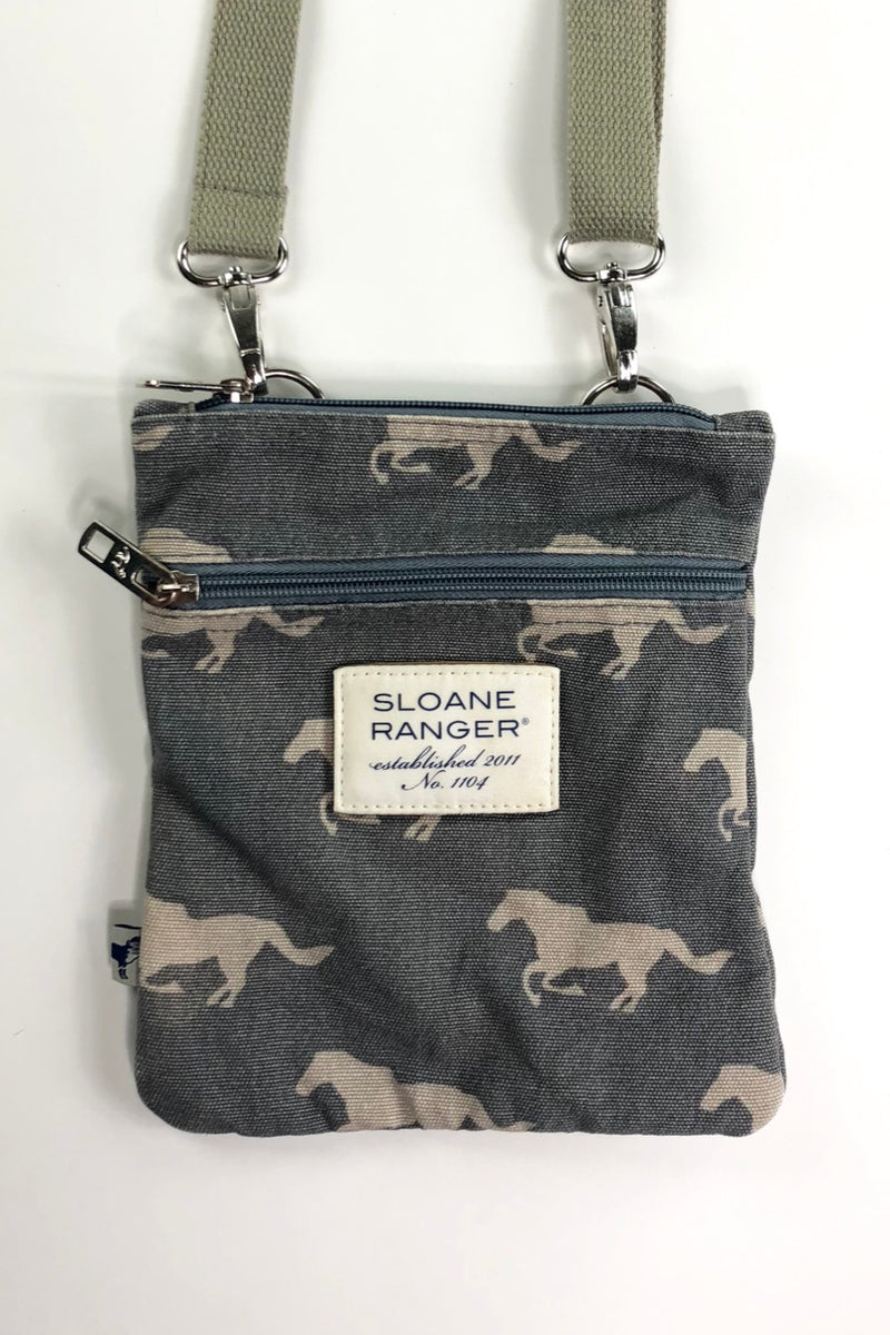 Sloane Ranger Crossbody Bag in Grey Horses - One Size
