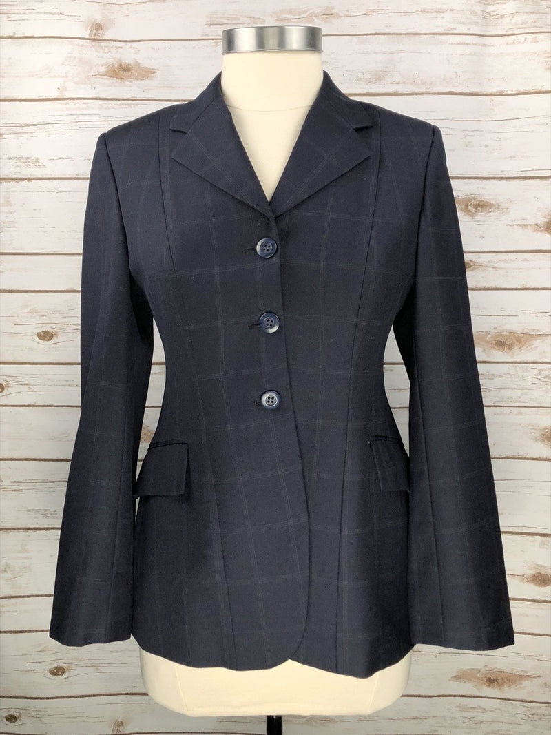 Grand Prix Hunt Coat in Navy Check  - Women's 12R/US6R
