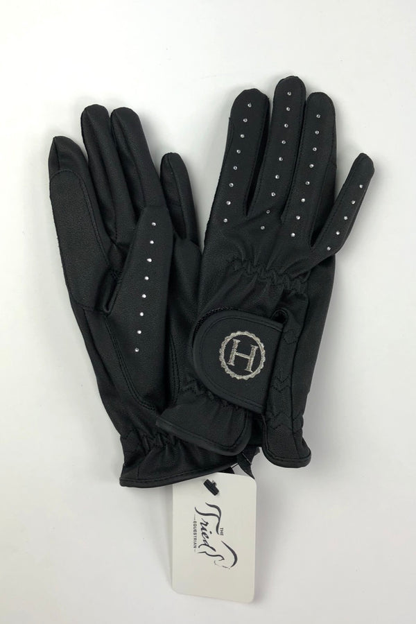 Harcour Crystal Gloves in Black - Women's Small