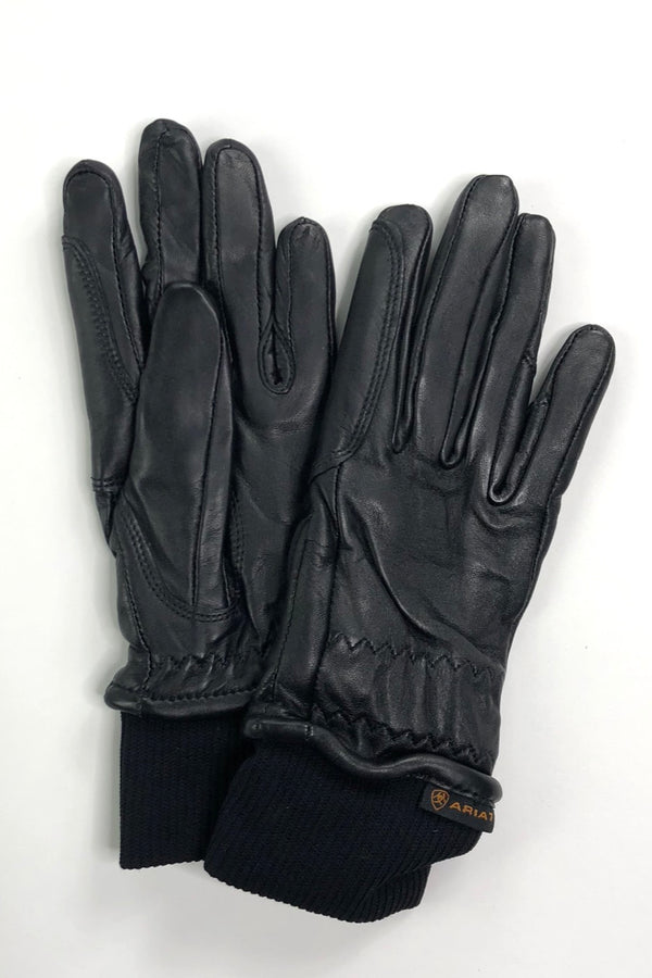 Ariat Insulated Pro Grip Leather Gloves in Black - Size 6