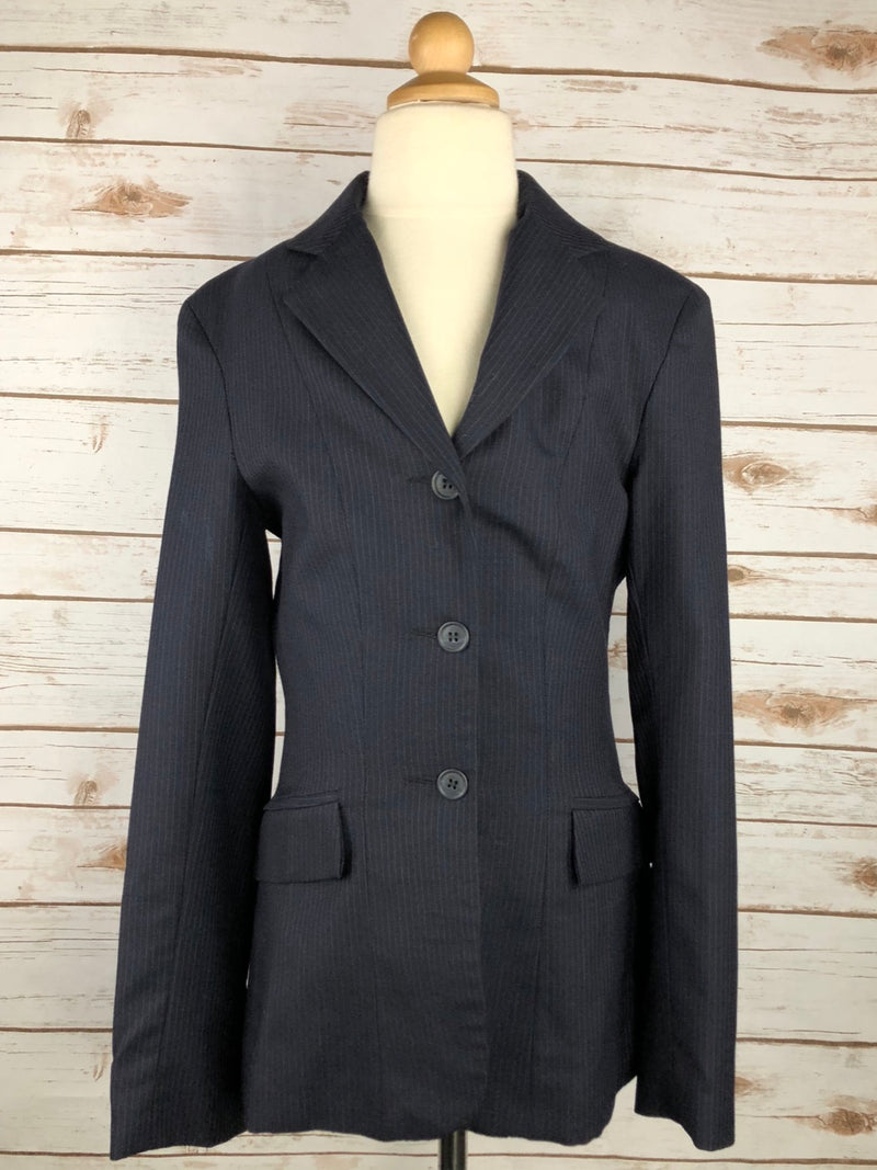 Devon-Aire Concour Elite Hunt Coat in Navy Pinstripe - Youth 5