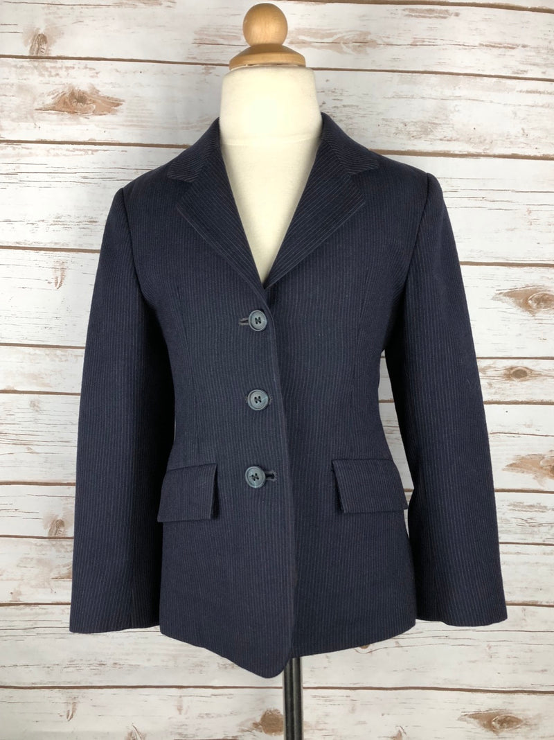 Triumph Hunt Coat in Navy Pinstripe - Children's 6