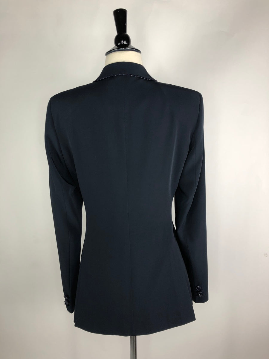 Grand Prix TechLite Show Jacket in Navy -  Back View