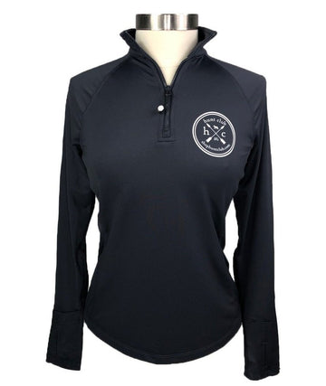 Hunt Club Performance 1/4 Zip Pullover in Blue Grey - Women's XS