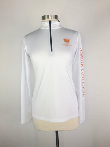 Asmar Equestrian Basic Compression Shirt in White - Front View