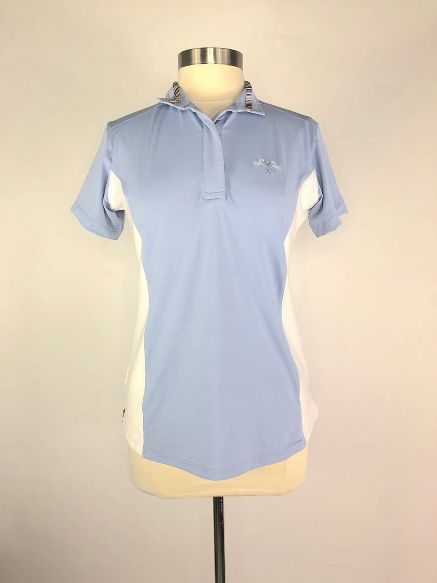 Equine Couture Cara Short Sleeve Polo in KL Baby Blue - Women's M