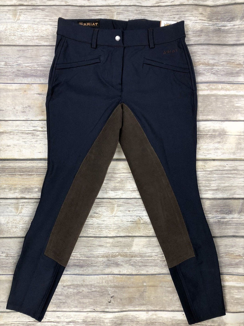Ariat Performer Full Seat Color Block Breeches in Navy/Brown - Women's 24R