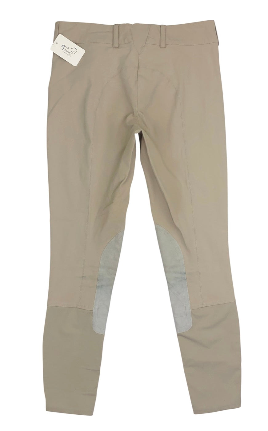 Back view of Ariat Olympia Knee Patch Breeches in Tan