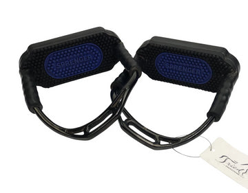Herm Sprenger stirrups in black and blue
