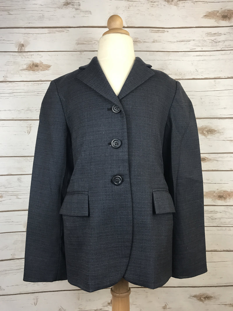 Elite Stretch Hunt Coat in Navy Plaid - Children's 12R