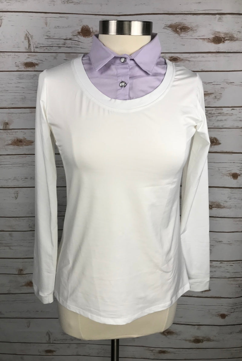 Callidae Practice Shirt in White and Lavender - Women's Small