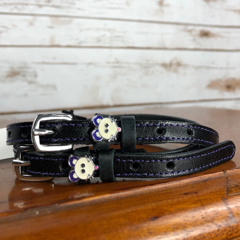 Mane Jane Spur Straps in Black/Purple/Mouse - 18""