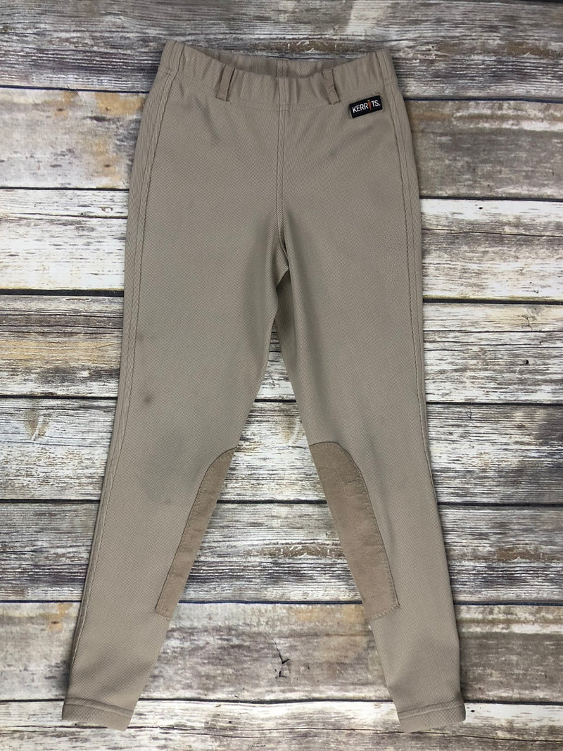 Kerrits Microcord Knee Patch Breeches in Tan - Children's Medium