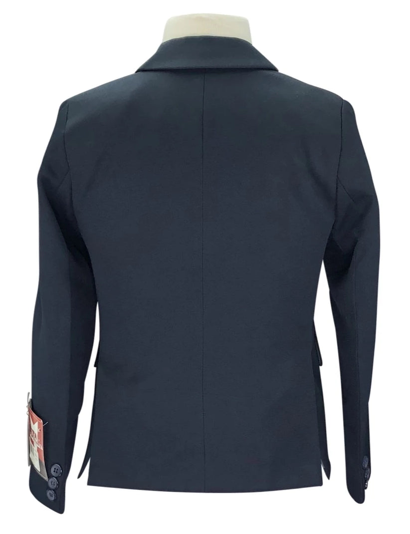 Back view of EquiStar Children's Riding Jacket in Navy with tags