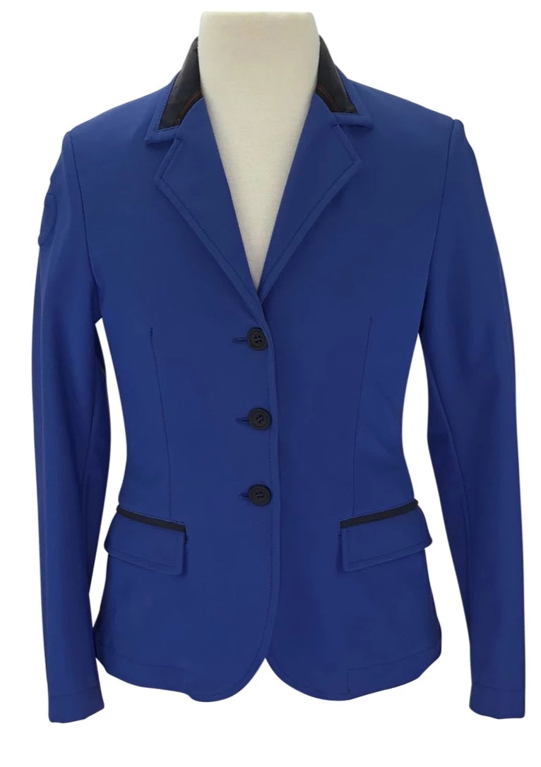 Cavalleria Toscana Competition Jacket in Blue with charcoal collar