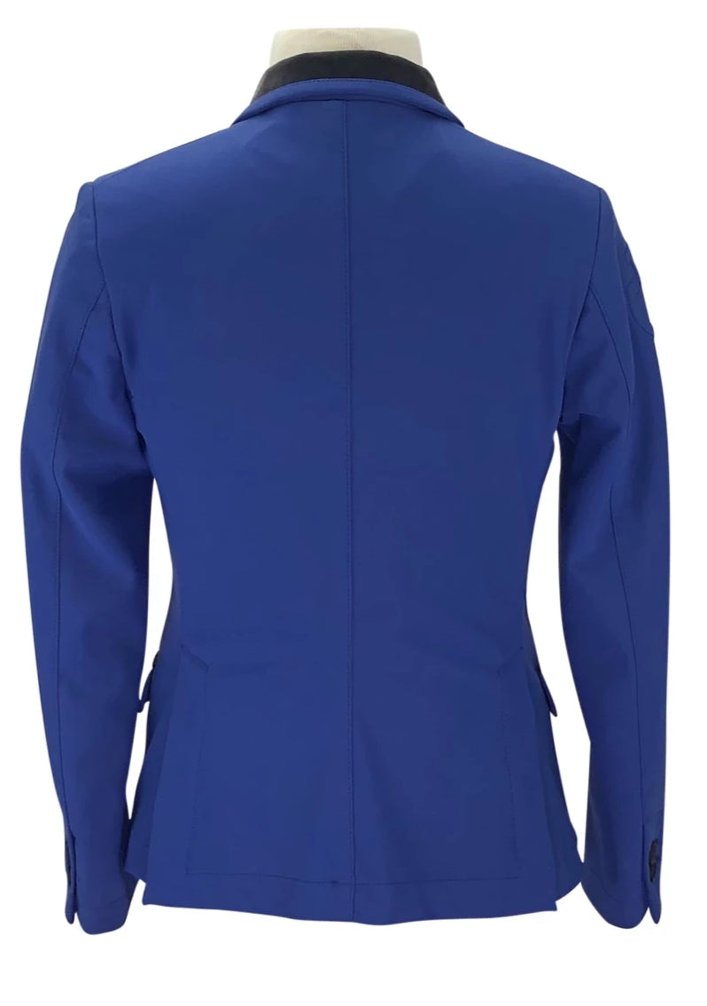 Back of Cavalleria Toscana Competition Jacket in Blue