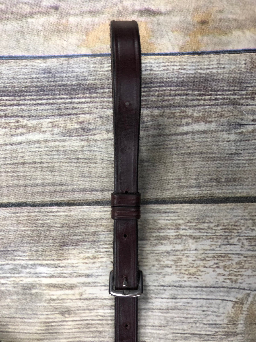 KL Select Flat Standing Martingale in Australian Nut - Bottom Strap View